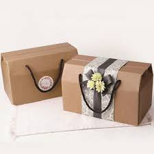 10pcs brown corrugated paper gift box