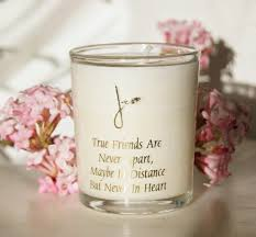 friendship quote candle made in the uk home of la juniper