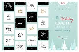 holiday quote bundle creative social media templates creative
