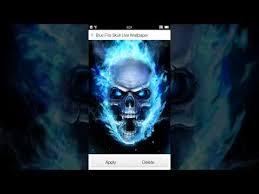 blue fire skull live wallpaper apps