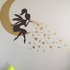 Fairy Wall Decal Fairy Blowing Hearts Fairy Blowing Kisses Etsy In 2020 Wall Decal Fairy Simple Wall Paintings Diy Wall Painting