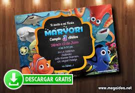 Tarjetas De Invitacion Buscando A Nemo Mega Idea
