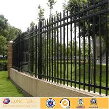 Cheap Metal Black Vinyl Steel Picket Fence Buy Picket Fence Black Vinyl Picket Fence Temporary Picket Fence Product On Alibaba Com