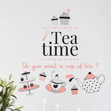 Winston Porter Coffee Or Tea Time Wall Decal Wayfair