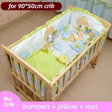 5pcs infant baby bedding set cotton