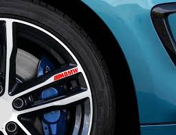 For Bmw M Sport Logo Car Vinyl 4 X Sticker Alloy Wheel Etsy