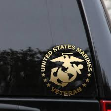Usmc Marine Veteran Decal Sticker Car Truck Window Laptop Usmc Usmc Veteran Marine Veteran