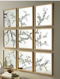 this set of nine hand painted mirrors