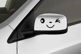 Car Sides Mirror Decals 2 Pcs 6x3 Chicocanvas