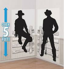 Amscan Cowboys Western Party Scene Setter Kit Party Decorations For Sale Ebay