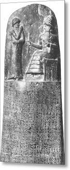 Hammurabi Babylonian King And Lawmaker Metal Print By Photo Researchers