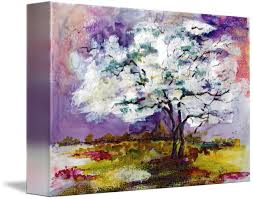 Spring Dogwood Tree Landscape And Birds By Ginette Callaway