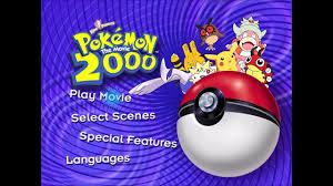 Pokemon The Movie 2000 DVD main menu screen - YouTube