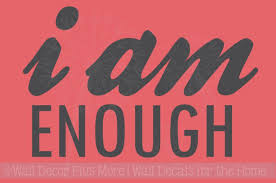 I Am Enough Vinyl Wall Decals Positive Affirmation Quotes Inspiration