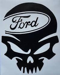 Color Size Choice Skull Ford Vinyl Decal Sticker Truck Bumper Car Window Ebay