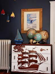Nautical Kids Bedroom With Dark Navy Walls Hgtv
