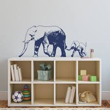 Elephant With Baby Vinyl Wall Decal Street Art Style K675 By Krittahstickers On Etsy Vinyl Wall Decals Wall Decals Large Decal
