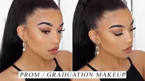 neutral prom graduation makeup look