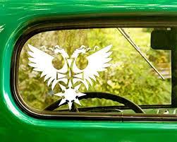 Amazon Com 2 Behemoth Band Decal Stickers White Die Cut For Window Car Jeep 4x4 Truck Laptop Bumper Rv Home Kitchen