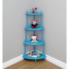 Corner Bookcase Blue Kids Bookcases Kids Bedroom Furniture The Home Depot