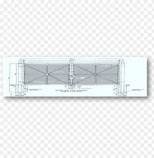 Chain Link Gate Fence Drawing Construction Detail Fence Png Image With Transparent Background Toppng