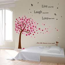 Winston Porter Daryl Huge Pink Tree And Classic Live Laugh Love Wall Decal Reviews Wayfair