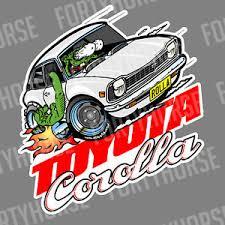 Japanese Car Vinyl Stickers Toyota Corolla Ke20 Ebay