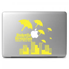 Support Hong Kong Umbrella Revolution Apple Macbook Air Pro 11 13 15 17 Vinyl Decal Sticker Dreamy Jumpers