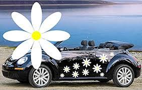 Amazon Com 32 White Daisy Flower Vinyl Car Decals Everything Else
