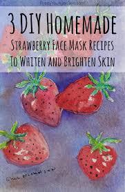 3 diy homemade strawberry face mask