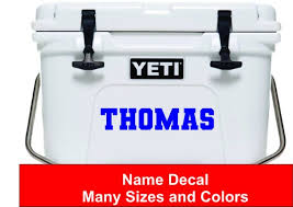 Name Decal Sticker Cooler Decal Cooler Sticker Yeti Etsy