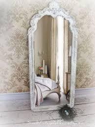 bedroom vintage white mirror