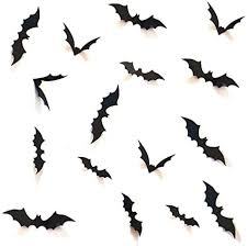 Amazon Com Hozzq Diy Halloween Party Supplies Pvc 3d Decorative Scary Bats Wall Decal Wall Sticker Halloween Eve Decor Home Window Decoration Set 28pcs Black Toys Games