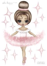 Ariana Ballerina Wall Decal Cute Art Fabric Wall Decals Little Girl Ballerina