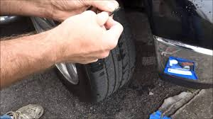 how to fix a flat tire nail or