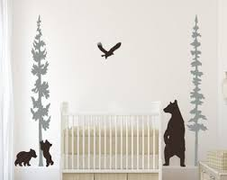 Bear Wall Decal Etsy