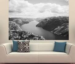 Blue River Canyon Hillsblack White Photography Wall Decal Zapwalls