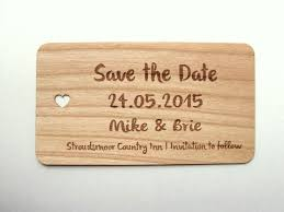 save the date wood card wooden save