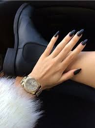 50 amazing black nail designs you are