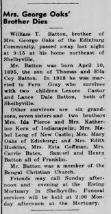 Obit: William T. Batton, husband of Fern Gray, d06Aug1954 - Newspapers.com