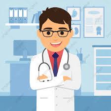 خلفية شخصية للرسوم المتحركة طبيب الأطباء المستشفيات المؤسسات