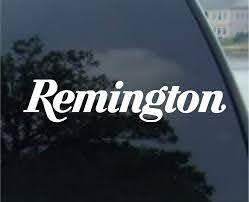 Amazon Com Graphix Remington Firearms Car Window Vinyl Decal Sticker 8 Wide Color White Automotive