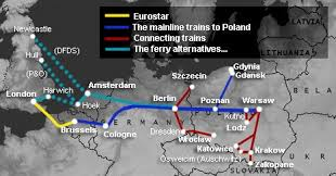 travel by train from london to warsaw
