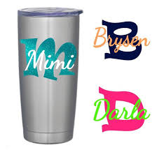 Name Decal Name And Initial Decal Yeti Name Decal Yeti Etsy