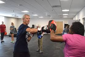 Fighting off Parkinson's at Rock Steady Boxing class