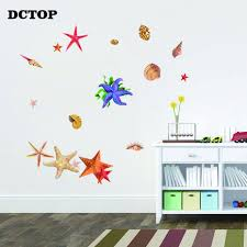 Pretty Color Beach Shell Ocean Starfish Wall Stickers Art Vinyl Decals For Kids Nursery Room Decoration Nordic Style Home Mural Wall Stickers Aliexpress