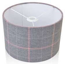 pink and grey tartan style cylinder