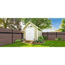 Veranda Euro Style 6 Ft H X 6 Ft W Estate King Cedar Aluminum Composite Horizontal Fence Section Ef 01401 Th Horizontal Fence Fence Sections Rustic Fence