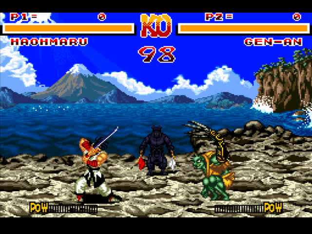 Image result for samurai shodown snes gameplay