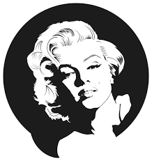 Marilyn Monroe Wall Sticker 40 X44 Midcentury Wall Decals By Masquevinilo